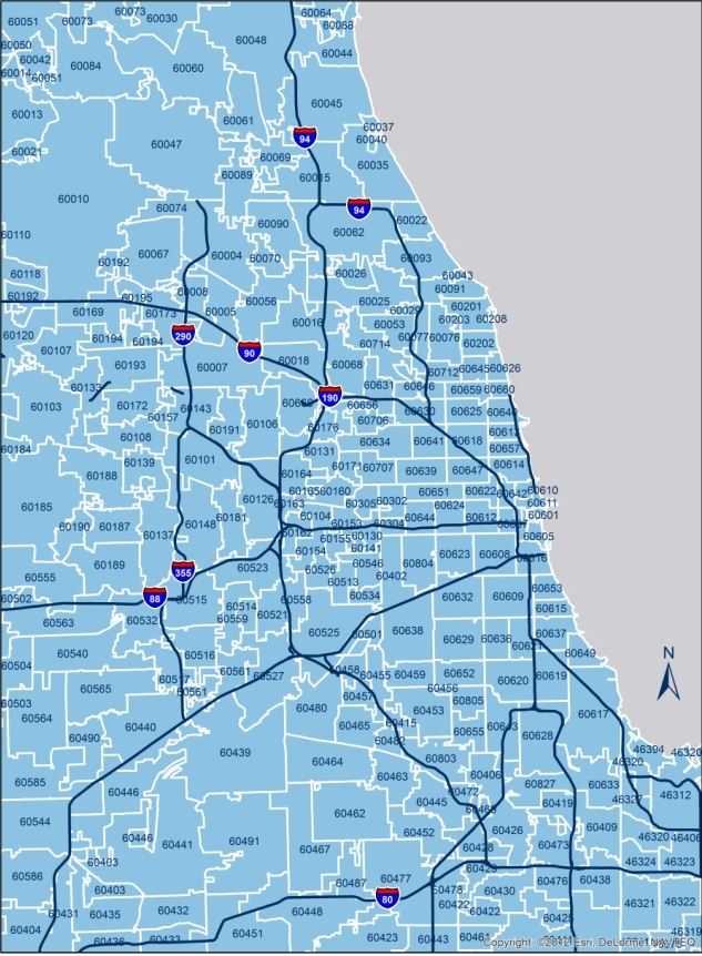 Chicago Area Zip Code Map Chicago Zip Codes | Chicago Neighborhood Zip Codes